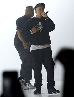 Eminem performs at the 2013 YouTube Music Awards. from Eminem