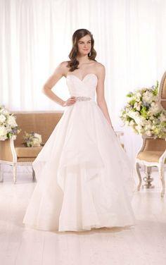 D2094 Strapless Royal Organza Wedding Dress by Essense of Australia