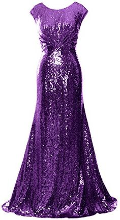 MACloth Women Mother of Bride Dresses Cap Sleeves Sequin Bridesmaid Formal Gown Formal Gowns, Strapless Dress Formal, Sequin Bridesmaid, Sequin Gown, Cap Dress, Senior Prom, Special Occasion Dresses, Cap Sleeves, Sequins