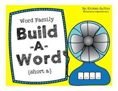 Love these build-a-word mats for short a!  (Also available for the other short vowels.)