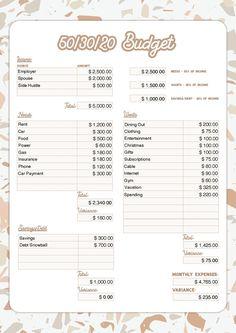 Budgeting Worksheets, Budgeting Finances, Budgeting Tips, Printable Worksheets, Money Saving Challenge, Money Saving Tips, Savings Challenge, Money Hacks, Money Savers