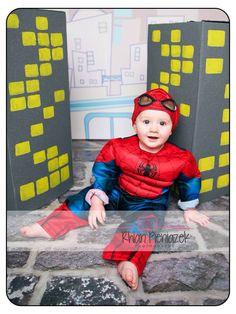 Superhero Mini Session. Spider-Man. Baby boy. Rhian Pieniazek Photography.