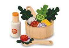 Pretend Play Salad Set  #toys #wooden toys