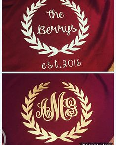 This listing is for one red 50x60 inch red fleece blanket. The blanket can be personalized in gold or white heat transfer vinyl. In a message to me list what color youd like and a description of the design. It is super soft and makes a perfect gift