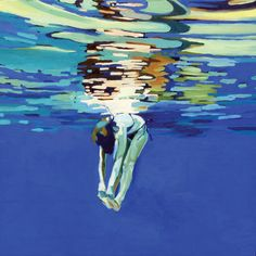 "Saatchi Online Artist: laura baker; Oil, Painting ""Swimmer #3"""