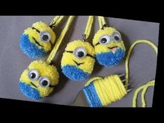 Make Pom Pom doll . Making Pom Pom Minions: How to Make The Hilarious Minions PomPom Kids Crafts, Crafts For Teens To Make, Dog Crafts, Yarn Crafts, Easter Crafts, Diy And Crafts, Preschool Crafts, Minion Doll, Pom Pom Animals