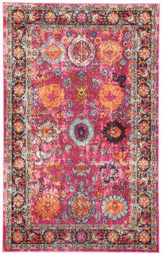 Keziah Rug, Pink and Orange - NEW