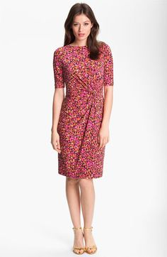 Chaus Twist Front Abstract Print Dress available at Nordstrom. I love twist-front dresses or tops!