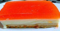 Πανεύκολο γλυκό ψυγείου με κρέμα ζελέ και μπισκότα πτι μπερ.. - OlaSimera Greek Sweets, Greek Desserts, Greek Recipes, Desert Recipes, No Bake Desserts, Easy Desserts, Sweets Cake, Cupcake Cakes, Cup Cakes