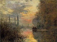 "Claude Monet, ""Evening at Argenteuil"""