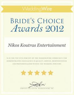 Our 2012 Bride's Choice Award