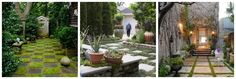 Use stone & grass to create a chic courtyard feel.....go online to find tons of inspiration!!!!
