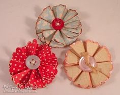 scallop paper flowers