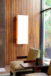 Vertical or horizontal Wood planks with gaps are what we're thinking for wall finish.