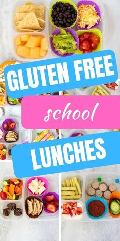 Packing lunches is hard enough! But when you are looking for gluten free lunch ideas, it can be more challenging or the options are expensive and get boring quickly. These ideas for gluten free lunches are kid approved, easy to make, and affordable. Gluten Free Recipes For Lunch, Gluten Free Breakfasts, Gluten Free Lunches, Healthy Lunches, Healthy Food, Dinner Recipes, Dinner Healthy, Quick Recipes, Keto Dinner