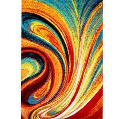 "Zipcode Design Peyton Multi-Colored Area Rug Rug Size: 9'2"" x 12'5"""