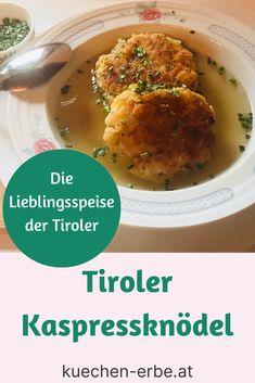 So zauberst du herrliche Tiroler Kaspressknödel! Und zwar nach dem Original-Rezept meiner lieben Oma! Brunch, Rice, Camping, Blog, Finger Food Recipes, Cooking Recipes, Food Ideas, Good Food, Healthy Recipes