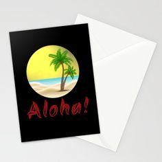 Aloha Hawaii Summer Vibes Cool Holiday Outfits and Home Decor Designs Stationery Cards by Aloha Hawaii, Holiday Outfits, Summer Vibes, Stationery, Seasons, Artists, Cool Stuff, Store, Unique