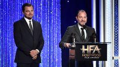 Hollywood Film Awards: Leonardo DiCaprio Eddie Murphy Justin Timberlake Celebrate Their Wins  The stars showed off their smiles and their awards.