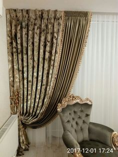 bedroom curtains master with blinds Living Room Decor Curtains, Home Curtains, Curtains With Blinds, Valance, Luxury Curtains, Elegant Curtains, Modern Curtains, Rideaux Design, Luxury Dining Room
