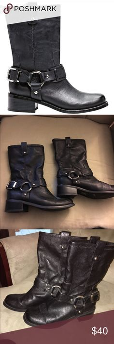 EUC JESSICA SIMPSON MOTO BOOTS Euc worn twice! Sold out everywhere Jessica Simpson Shoes Combat & Moto Boots