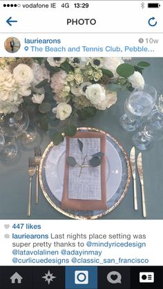 Tables flowers, linen and cutlery style