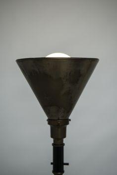Fog & Mørup floor lamp in brass from the 1930's at Studio Schalling #retro