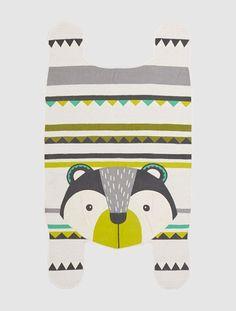 Teppich in Bärenform BEDRUCKT