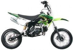 "DIR041 125cc Dirt Bike Deluxe Pit / Dirt Bike, Manual Clutch and Kick Start, Front/Rear Disc Brakes, 14""/12"" Wheels,Seat Height 29"" $729.00"