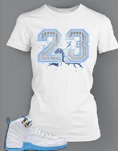 39e1c3a5ae8 23 T Shirt To Match Retro Air Jordan 12 Melo Shoe Highest quality DTG  priniting Order