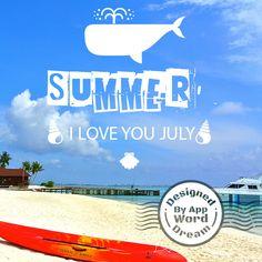 word,dream,sea,summer,love,july