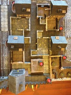 Our first town in a new Savage Worlds RPG with the help of DwarvenForge tiles. Rpg Board Games, Savage Worlds, The Help, Tiles, Calendar, My Favorite Things, Holiday Decor, Home Decor, Room Tiles