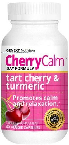 > CALMS AND RELAXES CHERRY CALM is a calming product that you can take throughout the day without feeling groggy. New research shows that there is a close relationship between chronic inflammation and