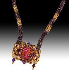 Crystal Tile Bracelet - Necklace variation 2010br /