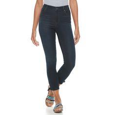 Women's Gloria Vanderbilt Alexandra Lace-Up Ankle Jeans, Size: 4, Med Blue