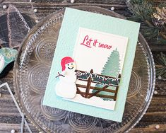 Introducing Fence Line: Winter, Sentiment Staples: Warmest Wishes, and Skinny Mini Banners All Things Christmas, Christmas Crafts, Xmas, Christmas Ideas, Let It Snow, Let It Be, Holiday Cards, Fence, Card Making