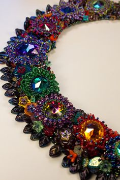 Spectacular Rare Crystal Beaded Collar Necklace (Reserved for Katwise). $2,600.00, via Etsy.