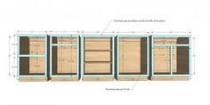 Face Frame Base Kitchen Cabinet Carcass