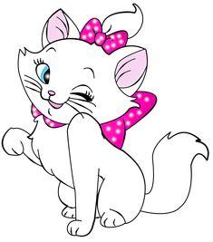 White Kitten Cartoon Free Clipart