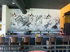 Image result for murals in restaurants