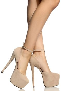 Nude Faux Suede Platform Stilettos @ Cicihot Heel Shoes online store sales:Stiletto Heel Shoes,High Heel Pumps,Womens High Heel Shoes,Prom Shoes,Summer Shoes,Spring Shoes,Spool Heel,Womens Dress Shoes
