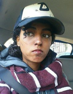 TWDG Cosplay: Close-up of cosplay makeup for Clementine's first appearance in S3! Clementine cosplay