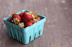 strawberries. Yum. And for a salad no less!