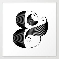 Art Inspiration of the Week Ampersand by Jude Landry https://society6.com/product/ampersand-mr8_print?curator=travislove  #LoveOfTheWeek #Inspirational #typography #FlatDesign #Art