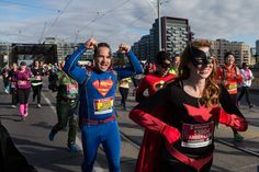 RunnersWeb Athletics: Superheroes Lead Fundraising at Scotiabank Charity Challenge Justice League Superheroes, Media Images, Triathlon, Fundraising, Superman, Charity, Athlete, Challenges, Running