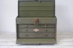 Vintage SK Tools Machinist Toolbox Metal 5 Drawer Tool Chest Kennedy Craftsman