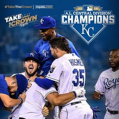 Your Kansas City Royals are the 2015 American League Central Division Champions!!! #TakeTheCrown