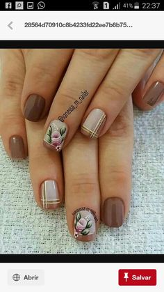 Colorful Nail Designs, Gel Nail Designs, Flower Nail Designs, Fabulous Nails, Perfect Nails, Stylish Nails, Trendy Nails, Manicure And Pedicure, Gel Nails