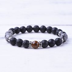 Looking for authentic, one of a kind, handmade malas? Tiger Eye Bracelet, Bracelet Sizes, Labradorite, Lava, Diy Jewelry, Beaded Necklace, Gemstones, Beads, Bracelets