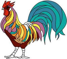 Image result for rooster stained glass pattern 21 x 18